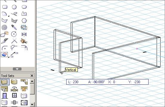 שרטוט קירות ופתחים ישירות ב 3D