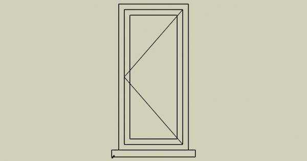 סימון פתיחה של חלון ציר ברשימות אלומיניום