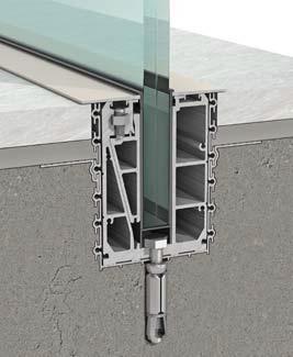 מערכת לקיבוע מעקה זכוכית ללא מסגרת