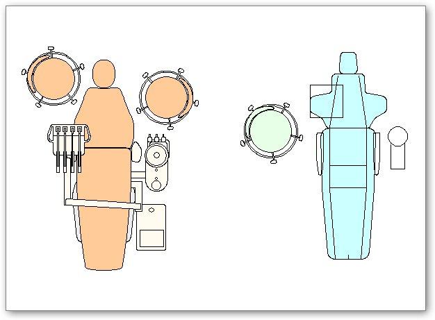 בלוקים אוטוקאד - כיסא של רופא שיניים