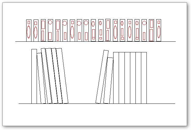 בלוקים אוטוקאד - ספרים וקלטת וידאו על מדף