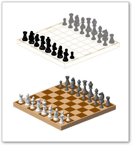 בלוקים אוטוקאד - מערכת שחמט