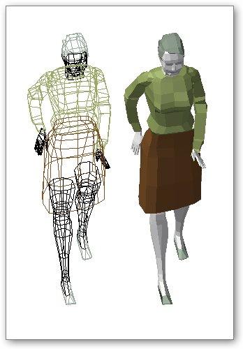 בלוק אוטוקאד - אישה תלת ממד