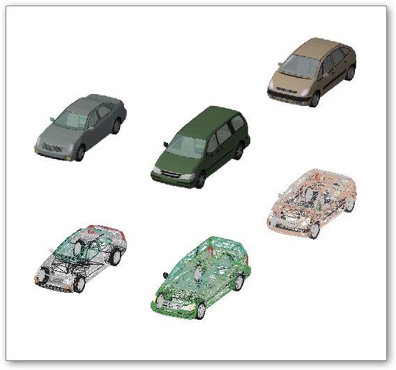 בלוקים אוטוקאד - מכוניות תלת ממדיות