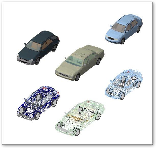 בלוקים אוטוקאד - מכוניות תלת מימד