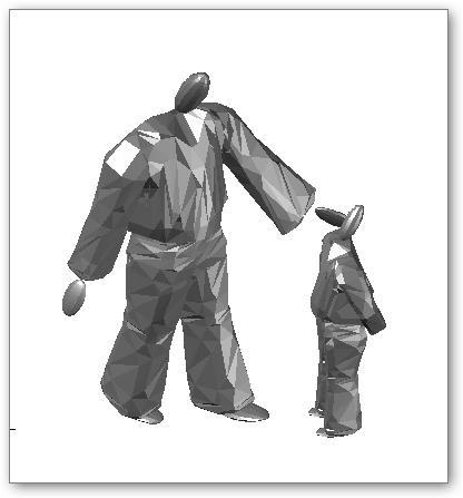 איש וילד בתלת ממד