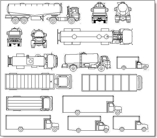 בלוקים של משאיות, מכלית וסמי טריילר