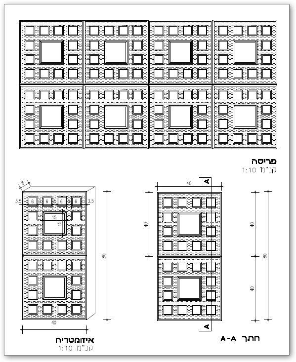 מצלול GRC בדוגמת רשת מרובעת