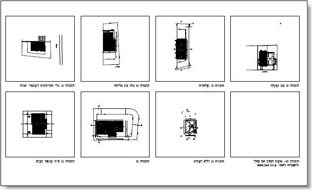 שרטוט תוכנית גגות - דוגמה