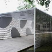 A pavilion by Toyo Ito in Bruges, Belgium