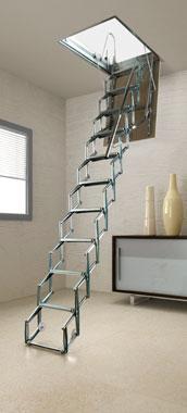 מדרגות מתקפלות לעליית גג / סולמות לגג